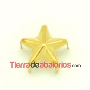 Tacha Estrella 15mm Dorada