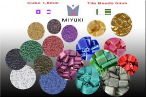 Tila Beads y Cubos 1,8mm Miyuki