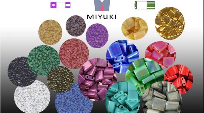 Tila Beads 5mm y Cubos de 1,8mm By Miyuki