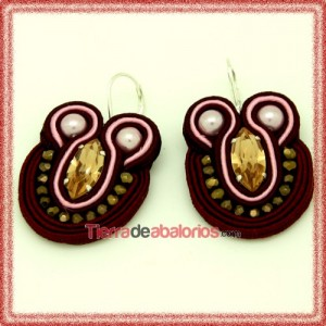 Pendientes Soutache con Navette Light Colorado Topaz