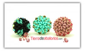 Anillos con Superduo y Twin Beads