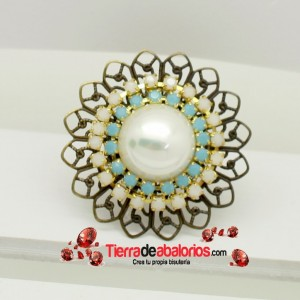 Anillo Pearl Vintage con Strass Opal