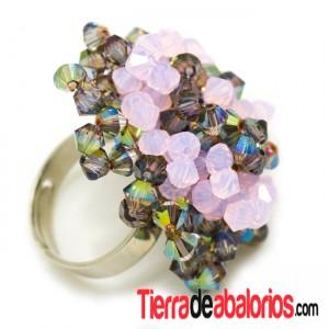 Anillo Tupis Vitrail Medium y Rose Water Opal