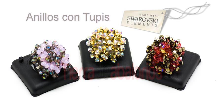 Anillos con Tupis Swarovski