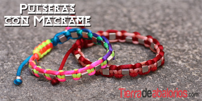 Pulseras Macrame con Tutorial de Video