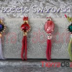 Bracelets Swarovski and Silk