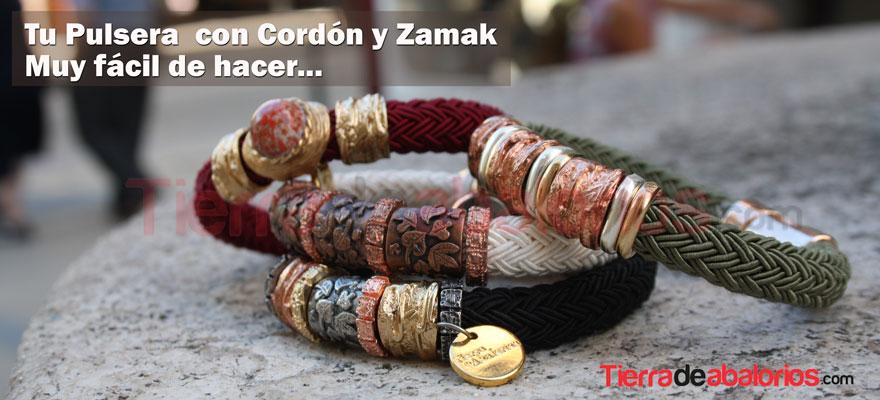 Pulseras con Cordones y Zamak