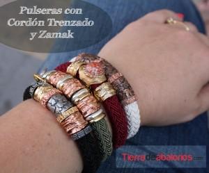 Pulseras Cordon Trenzado y Zamak