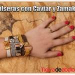 Pulseras con Caviar y Zamak