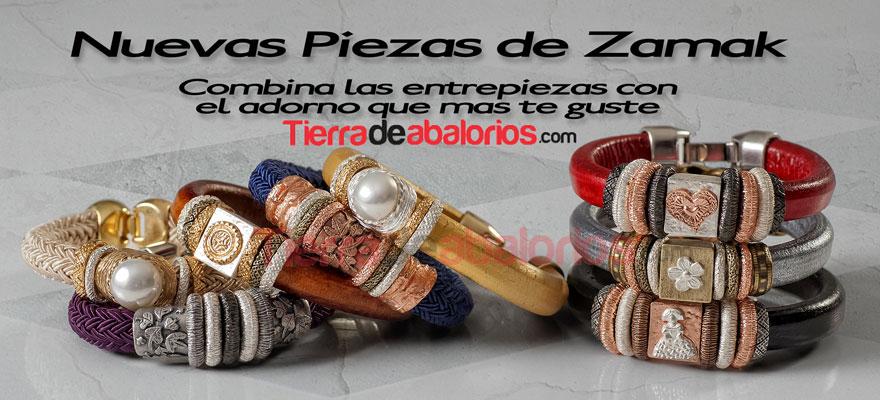 Pulseras con Cordones, Cuero Regaliz y Zamak