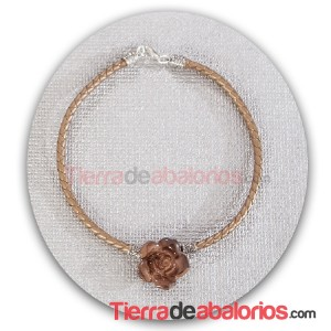 Colgante Flor Acrílica Marrón