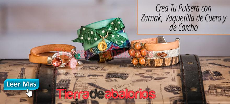 Crea tu Pulsera con Zamak, Vaquetillas y Corcho