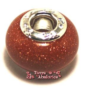 Bola rondel de piedra sol con casquilla de 14mm