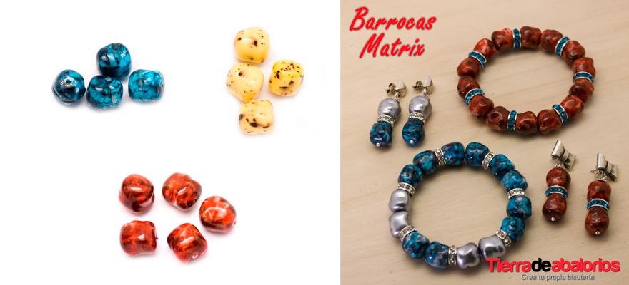 Pulseras y Pendientes con Perlas Matrix