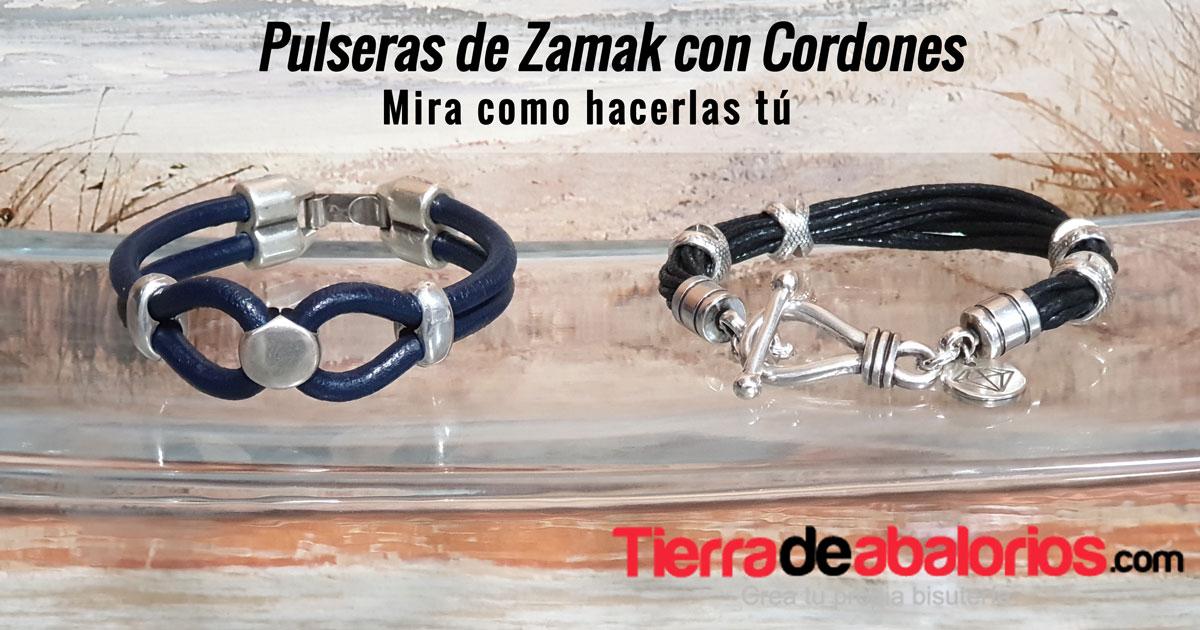 Pulseras de Zamak con Cordones