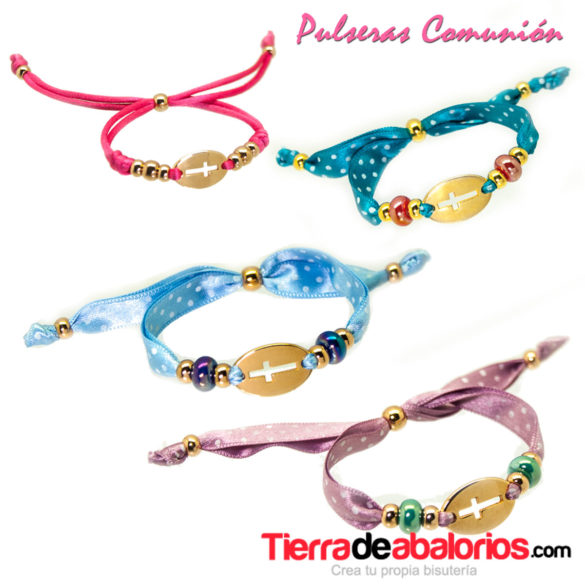 Pulseras-comunion-lazo