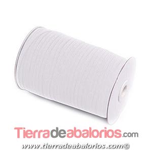 Cinta Elástica Trencilla 5mm, Blanca