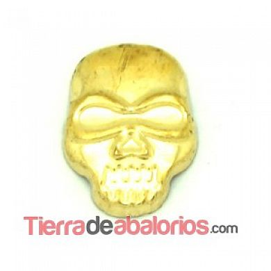 Calavera Transfer 12x8mm Dorada
