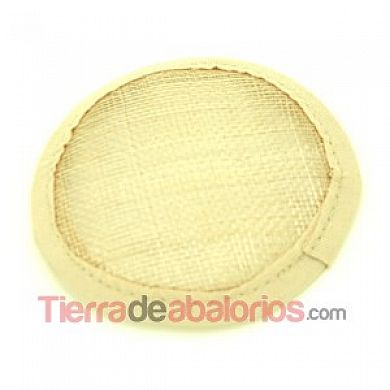 Base de Tocado de Fibra de Coco de 9cm, Natural