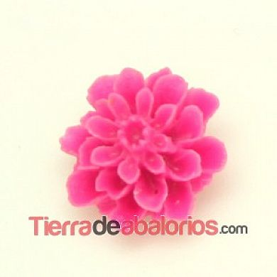 Resina Flor 16mm Agujero 0,8mm, Fucsia