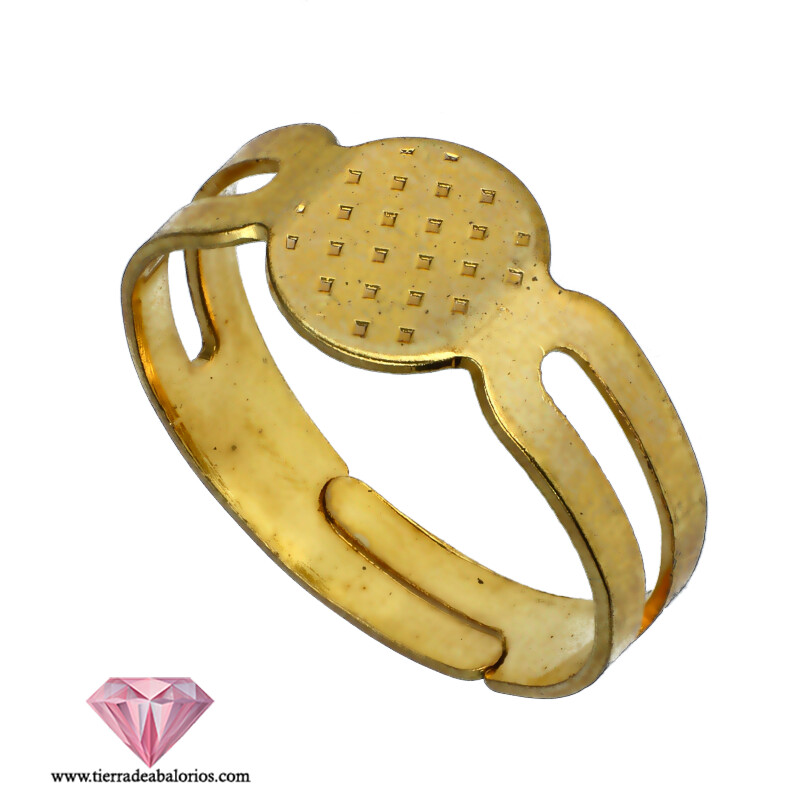 Anillo Ajustable 18mm Base 8mm Dorado
