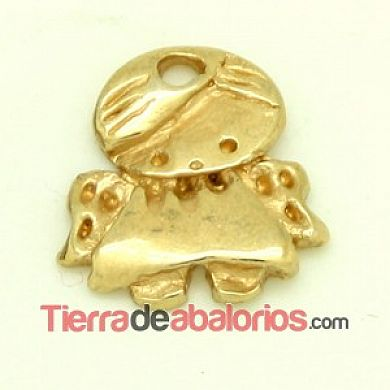 Colgante Angelito de la Guarda 19x17mm, Dorado