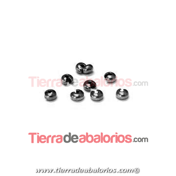 Cubre Chafas 2,5x3,85mm Agujero 1,8mm, Plateado
