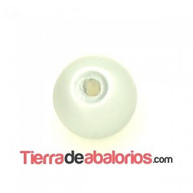 Perla de Cristal Checo 4mm, Gris Mate