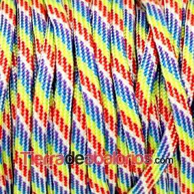Cordón de Nylon de Escalada Plano 4mm Multicolor