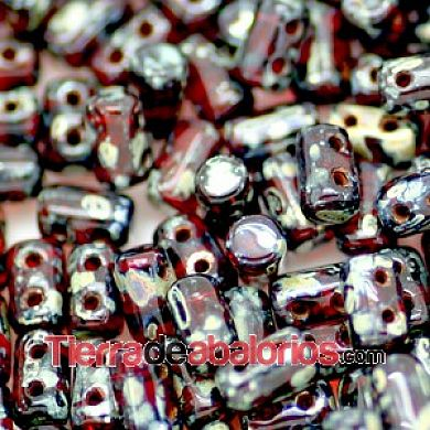 Rulla Bead 5x3mm Ruby Picasso