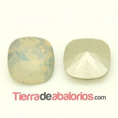 Cabujón Swarovski 12mm Light Grey Opal