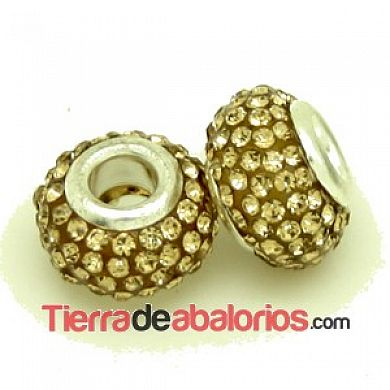 Bola Rondel con Casquilla 12x8mm Agujero 4mm Golden Shadow