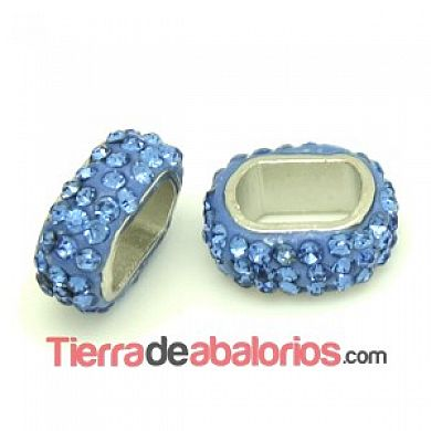 Entrepieza para Regaliz 18x8mm Agujero 11x7mm Light Sapphire