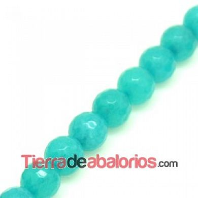 Agata Bola Facetada 4mm Caribe Blue