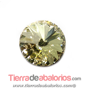 Rivoli Swarovski 12mm Blond Flare Gold