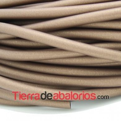 Caucho Hueco 4mm Agujero 2mm Bronce Antiguo