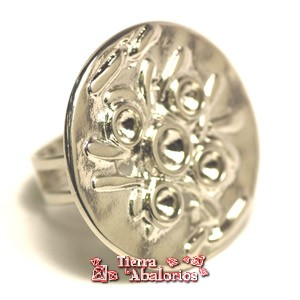 Anillo Ajustable Base 30mm para Chatones SS29, Plateado
