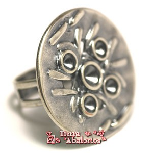 Anillo Ajustable Base 30mm para Chatones SS29, Plata Vieja