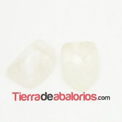 Cabujón Resina Irregular 12x8mm, Blanco
