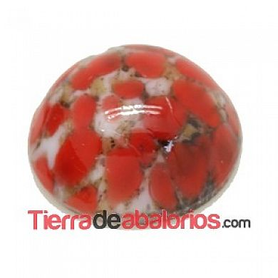 Cabujón Redondo 10mm Coral Matrix