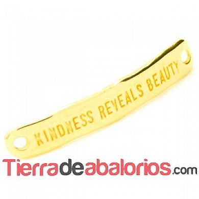 Entrepieza Curvada 40x7mm Kindness Reveals Beauty, Dorada