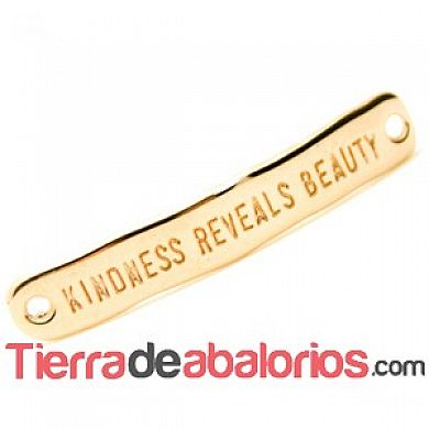 Entrepieza Curvada 40x7mm Kindness Reveals Beauty, Oro Rosa