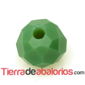 Briolette Facetada 6x5mm Agujero 0,7mm Verde Musgo