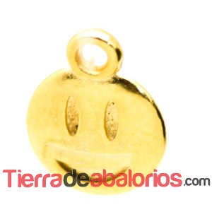 Colgante Emoticono 8mm Risas Dorado