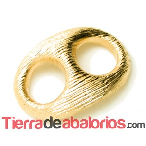 Calabrote Rayado 32x24mm Oro Brillo