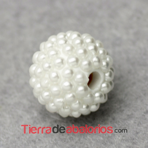 Bola Shamballa 10mm Agujero 2mm Multi-Perlas