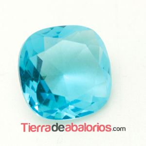 Cabujón Facetado 12x12mm Aquamarine