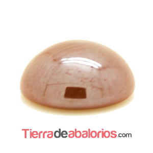 Cabujón 10mm Marrón Perlado