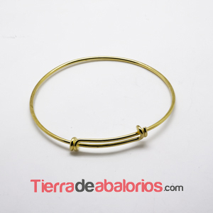 Pulsera Rigida 66mm Dorada
