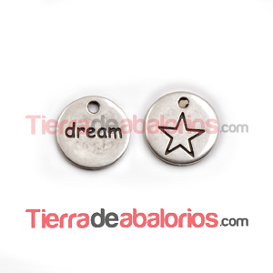 Medalla 14mm Dream, Plateada